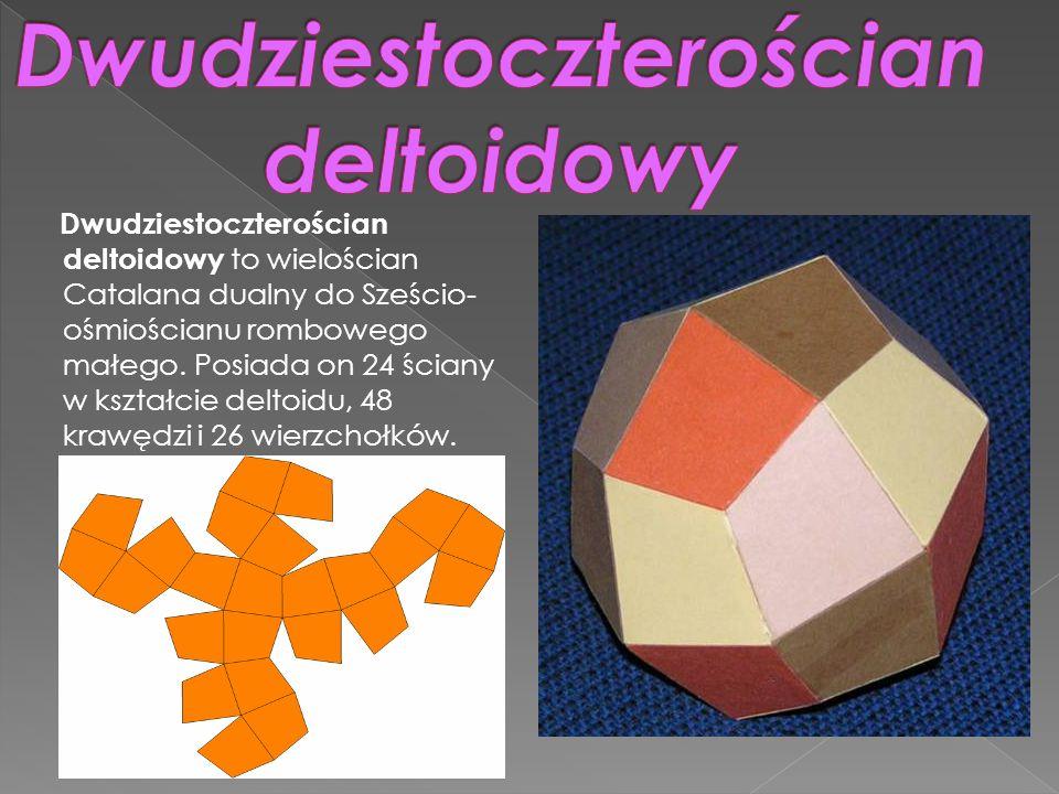 Dwudziestoczterościan deltoidowy to wielościan Catalana dualny do Sześcio- ośmiościanu rombowego małego. Posiada on 24 ściany w kształcie deltoidu, 48