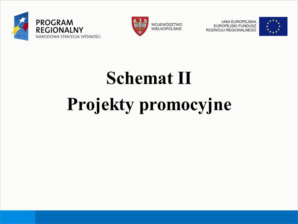 Schemat II Projekty promocyjne