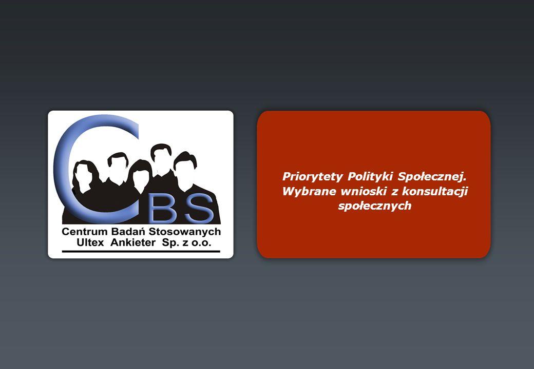 Priorytety Polityki Społecznej. Wybrane wnioski z konsultacji społecznych