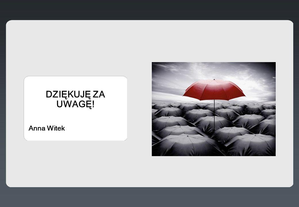 DZIĘKUJĘ ZA UWAGĘ! Anna Witek