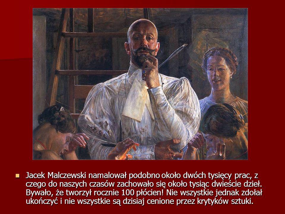 Jacek Malczewski namalował podobno około dwóch tysięcy prac, z czego do naszych czasów zachowało się około tysiąc dwieście dzieł. Bywało, że tworzył r