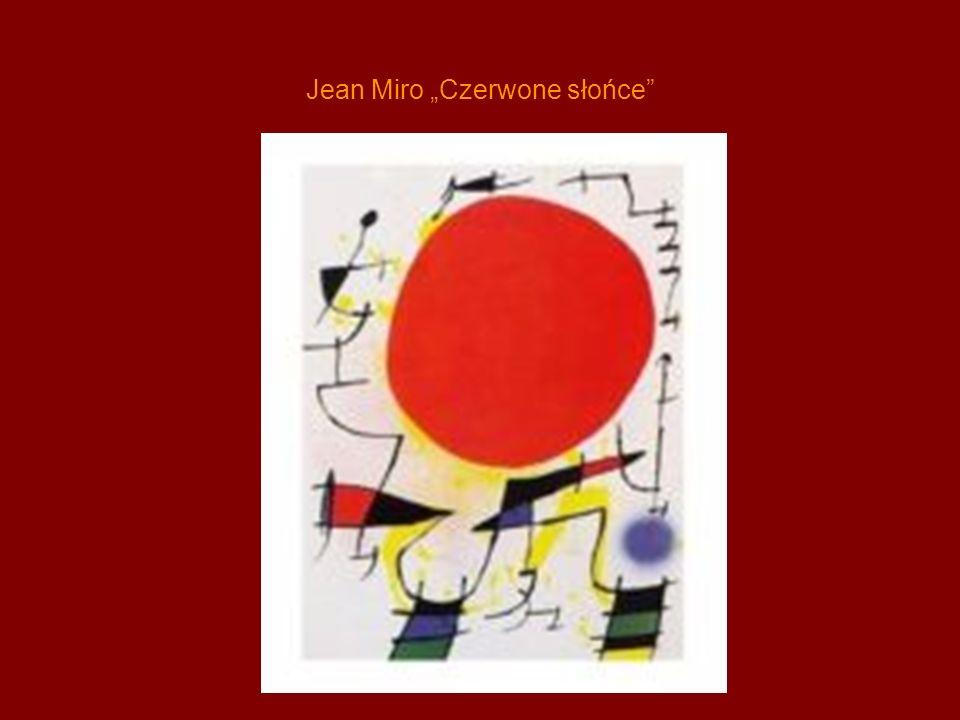 Jean Miro Czerwone słońce
