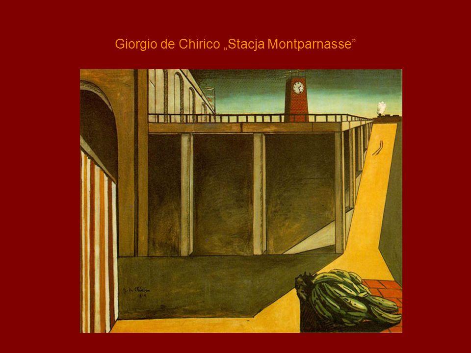 Giorgio de Chirico Stacja Montparnasse