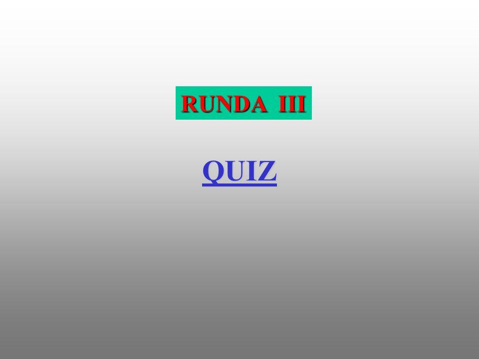 QUIZ RUNDA III