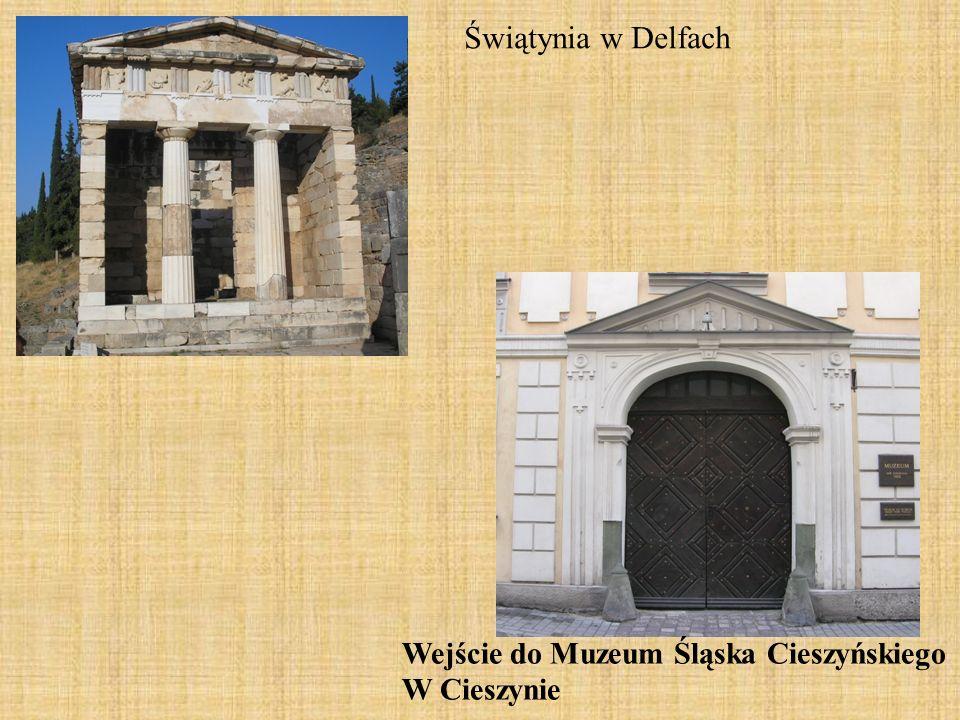 Wejście do Muzeum Śląska Cieszyńskiego W Cieszynie Świątynia w Delfach