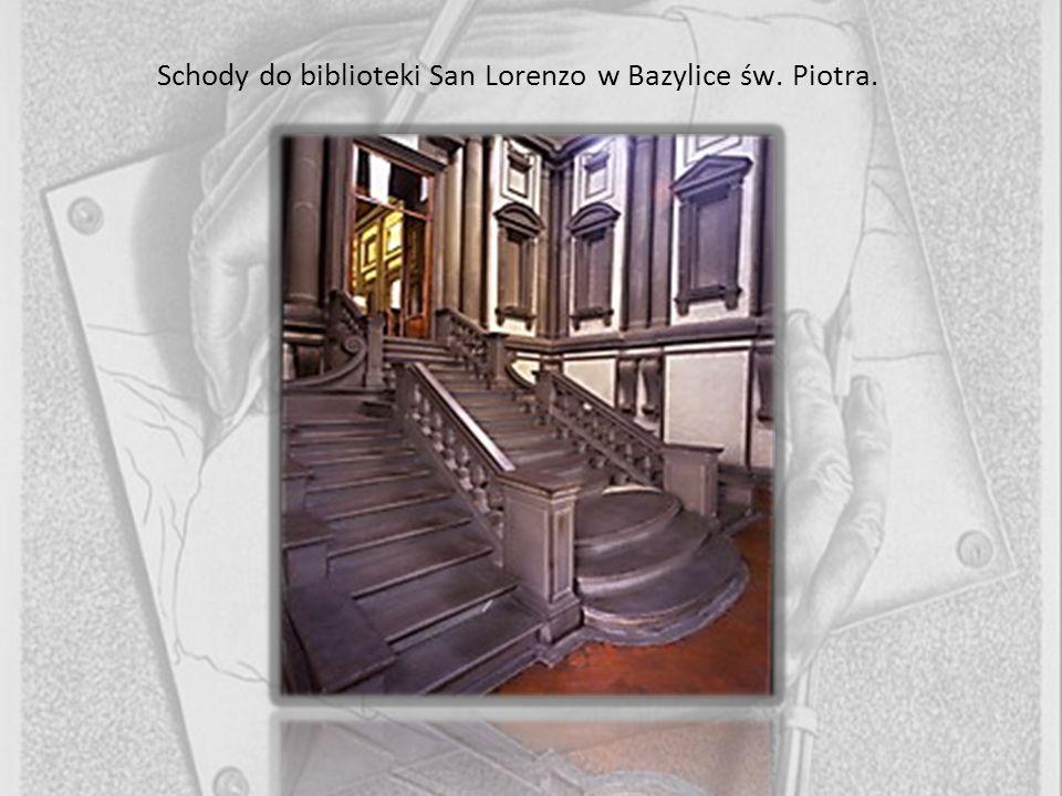 Schody do biblioteki San Lorenzo w Bazylice św. Piotra.