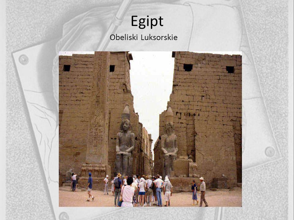 Egipt Obeliski Luksorskie