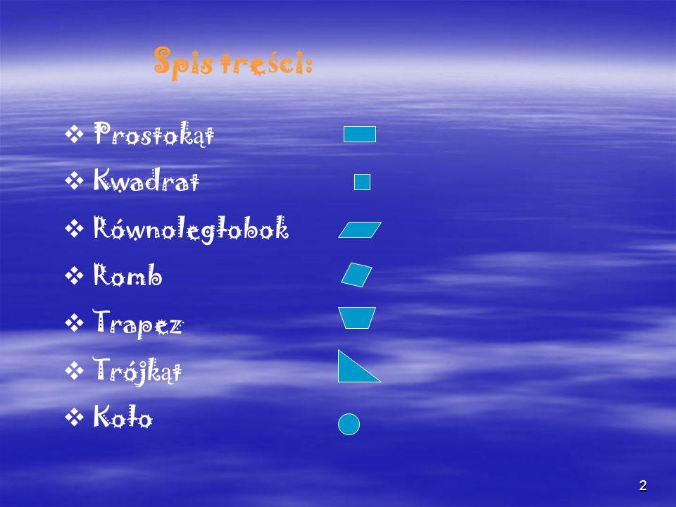 3 Prostok ą t Prostokąt to czworokąt, Prostokąt to czworokąt, mający cztery kąty proste.