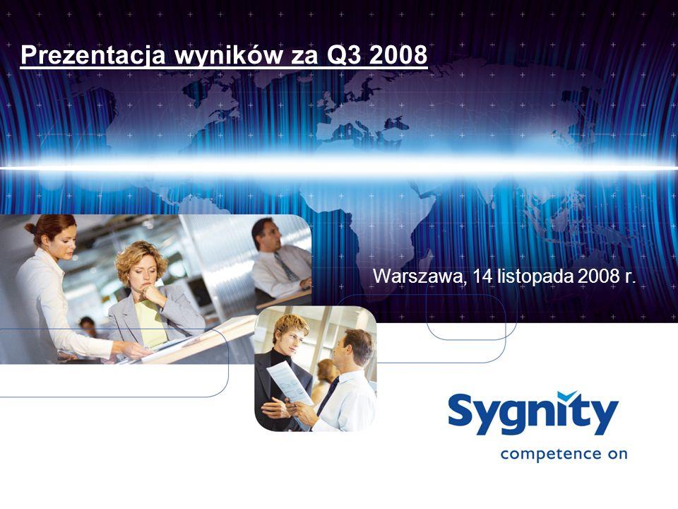 Prezentacja wyników za Q3 2008 Warszawa, 14 listopada 2008 r.