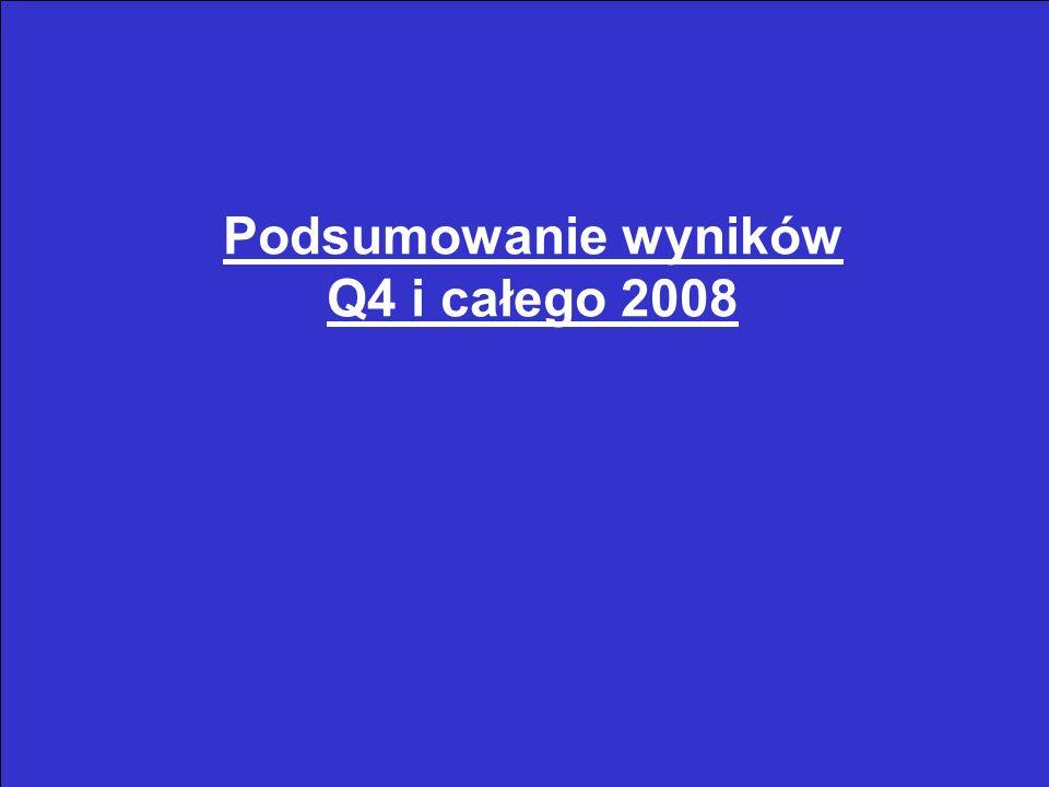 4 Wyniki Q4 2008 vs Q4 2007 [tys.