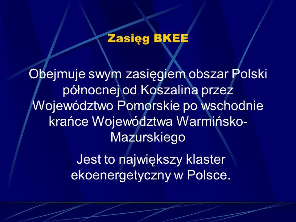 Zasięg BKEE Obejmuje swym zasięgiem obszar Polski północnej od Koszalina przez Województwo Pomorskie po wschodnie krańce Województwa Warmińsko- Mazurs
