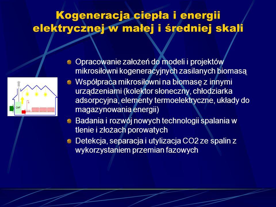Kogeneracja ciepła i energii elektrycznej w małej i średniej skali Opracowanie założeń do modeli i projektów mikrosiłowni kogeneracyjnych zasilanych b