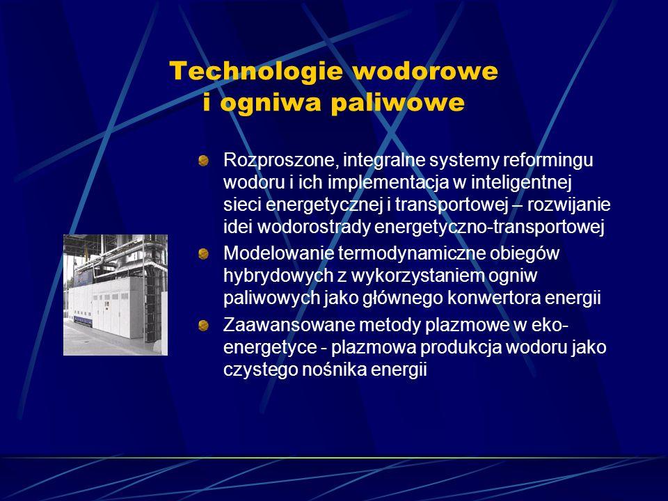 Technologie wodorowe i ogniwa paliwowe Rozproszone, integralne systemy reformingu wodoru i ich implementacja w inteligentnej sieci energetycznej i tra