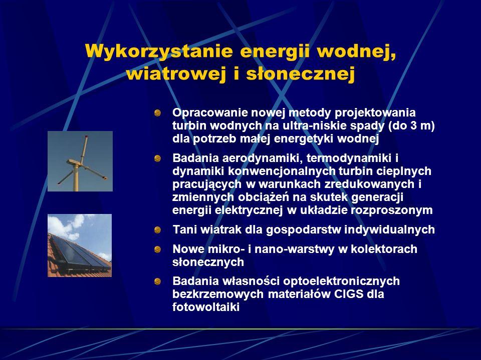 Wykorzystanie energii wodnej, wiatrowej i słonecznej Opracowanie nowej metody projektowania turbin wodnych na ultra-niskie spady (do 3 m) dla potrzeb
