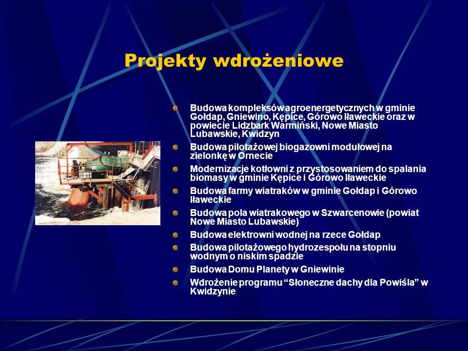 Projekty wdrożeniowe Budowa kompleksów agroenergetycznych w gminie Gołdap, Gniewino, Kępice, Górowo Iławeckie oraz w powiecie Lidzbark Warmiński, Nowe