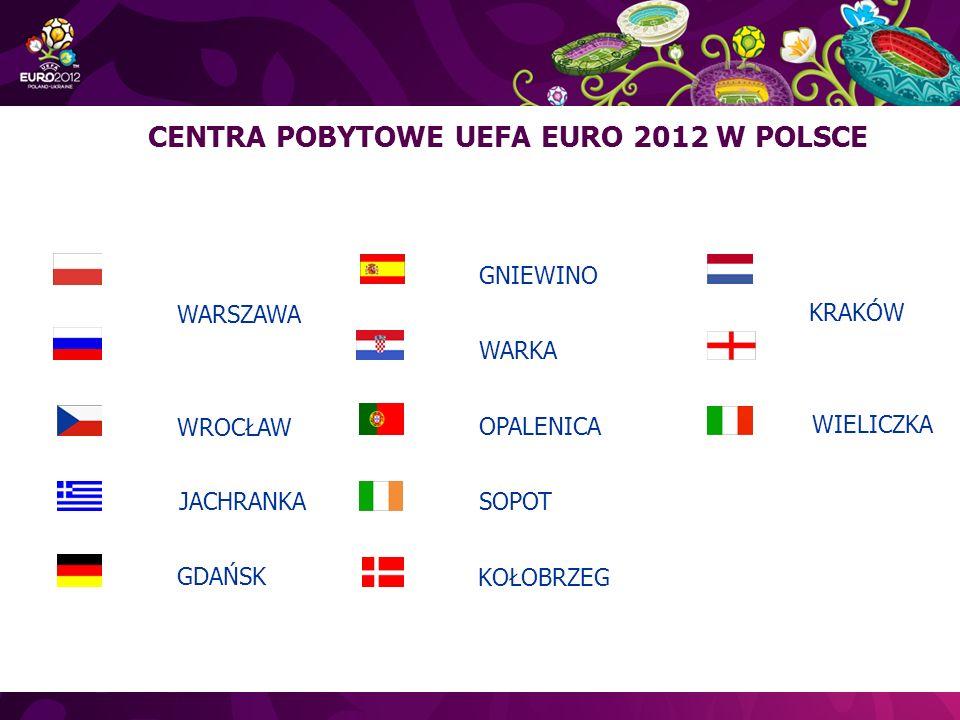 CENTRA POBYTOWE UEFA EURO 2012 W POLSCE WARSZAWA JACHRANKA GDAŃSK KOŁOBRZEG GNIEWINO WARKA OPALENICA SOPOT KRAKÓW WROCŁAW WIELICZKA