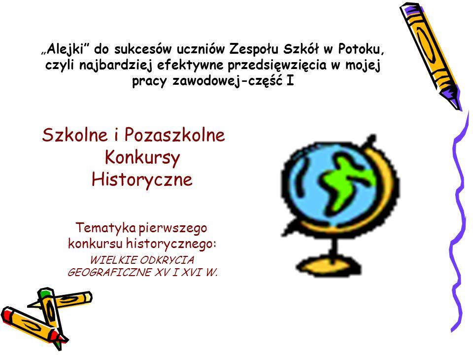 Alejki do sukcesów uczniów Zespołu Szkół w Potoku, czyli najbardziej efektywne przedsięwzięcia w mojej pracy zawodowej-część I Szkolne i Pozaszkolne K