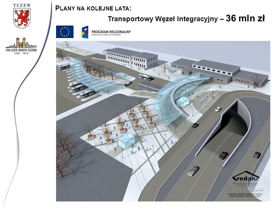 Transportowy Węzeł Integracyjny – 36 mln zł P LANY NA KOLEJNE LATA :