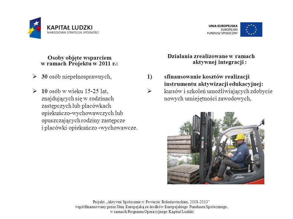2) sfinansowanie kosztów realizacji instrumentu aktywizacji zawodowej: zajęć z zakresu doradztwa zawodowego, 3)sfinansowanie kosztów realizacji instrumentu aktywizacji społecznej: treningu kompetencji i umiejętności społecznych, poradnictwa psychologicznego, 4) sfinansowanie kosztów realizacji instrumentu aktywizacji zdrowotnej (dotyczy osób niepełnosprawnych): udziału w turnusie rehabilitacyjnym oraz ćwiczeniach fizycznych usprawniających psychoruchowo i/lub zajęciach rehabilitacyjnych.