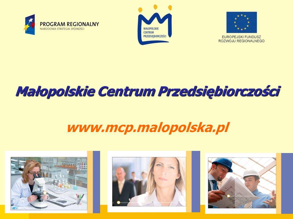 Małopolskie Centrum Przedsiębiorczości www.mcp.malopolska.pl