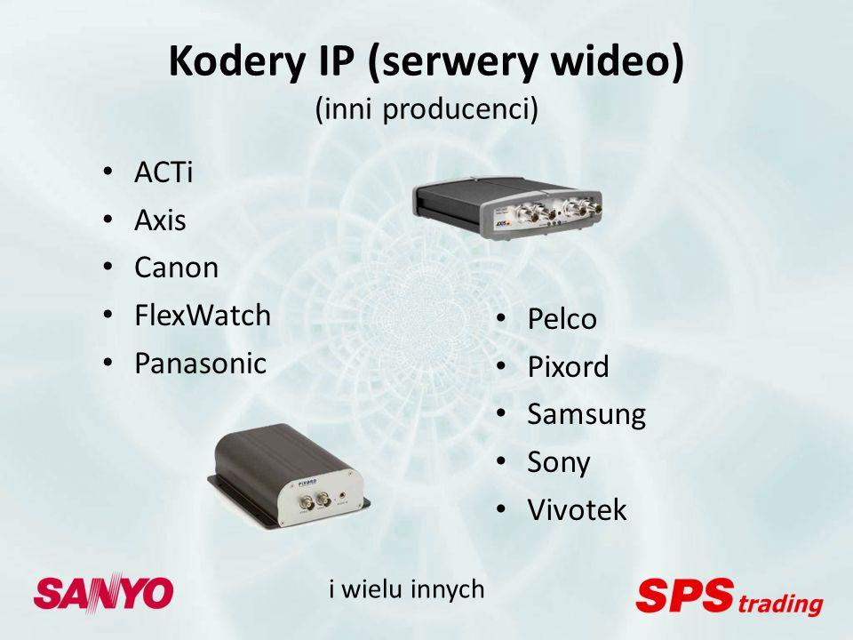 Inne urządzenia Kamery USB Karty przechwytujące wideo - ComArt Systems (HiCap, XeCap) - ProVideo Multimedia - ATI Technologies - EureSys - iTuner Network Corp Każde urządzenie zgodne z DirectShow