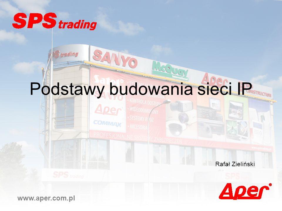 Podstawy budowania sieci IP www.aper.com.pl Rafał Zieliński