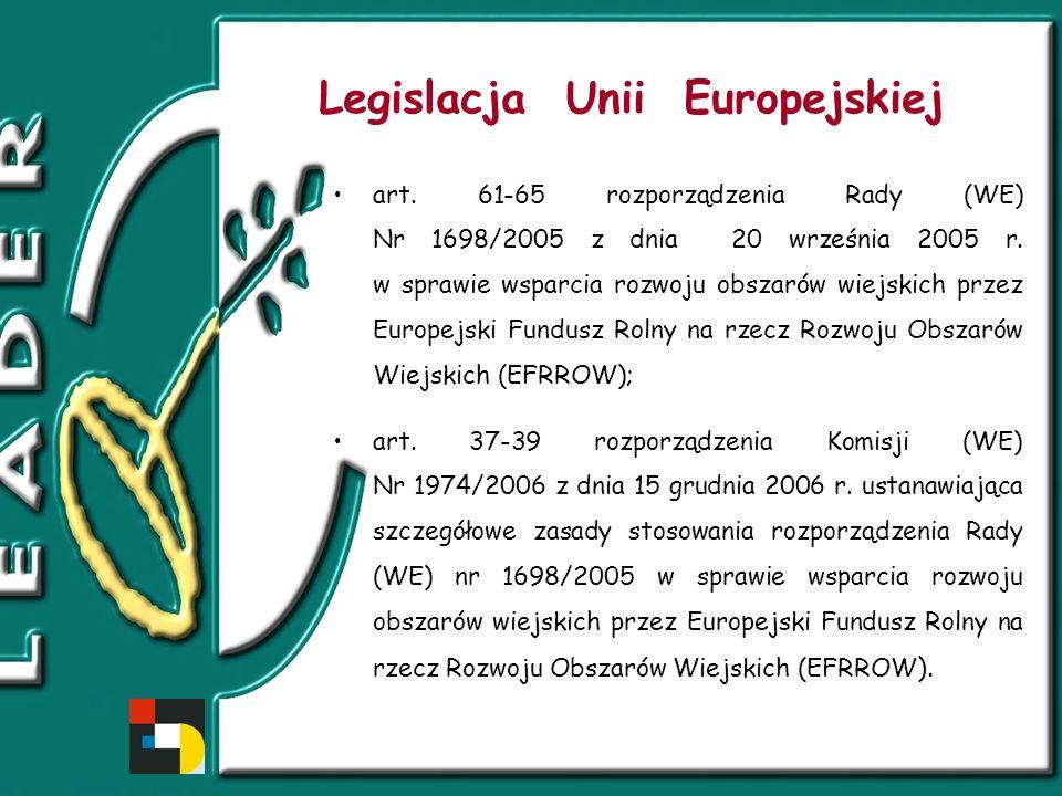 Legislacja krajowa Ustawa z dnia 7 marca 2007 r.