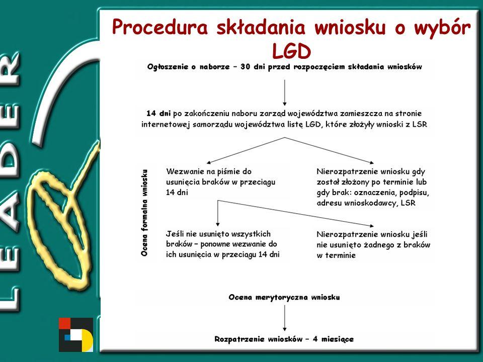 Procedura składania wniosku o wybór LGD