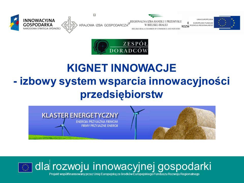 dla rozwoju innowacyjnej gospodarki Projekt współfinansowany przez Unię Europejską ze środków Europejskiego Funduszu Rozwoju Regionalnego 8.