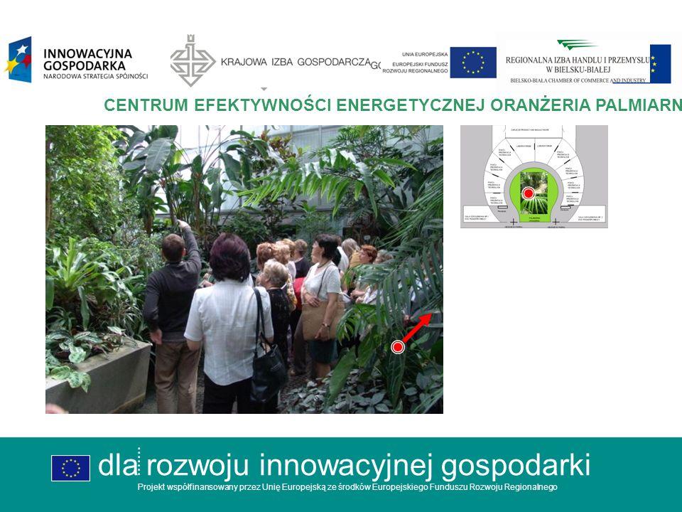 dla rozwoju innowacyjnej gospodarki Projekt współfinansowany przez Unię Europejską ze środków Europejskiego Funduszu Rozwoju Regionalnego CENTRUM EFEKTYWNOŚCI ENERGETYCZNEJ ORANŻERIA dla rozwoju innowacyjnej gospodarki Projekt współfinansowany przez Unię Europejską ze środków Europejskiego Funduszu Rozwoju Regionalnego