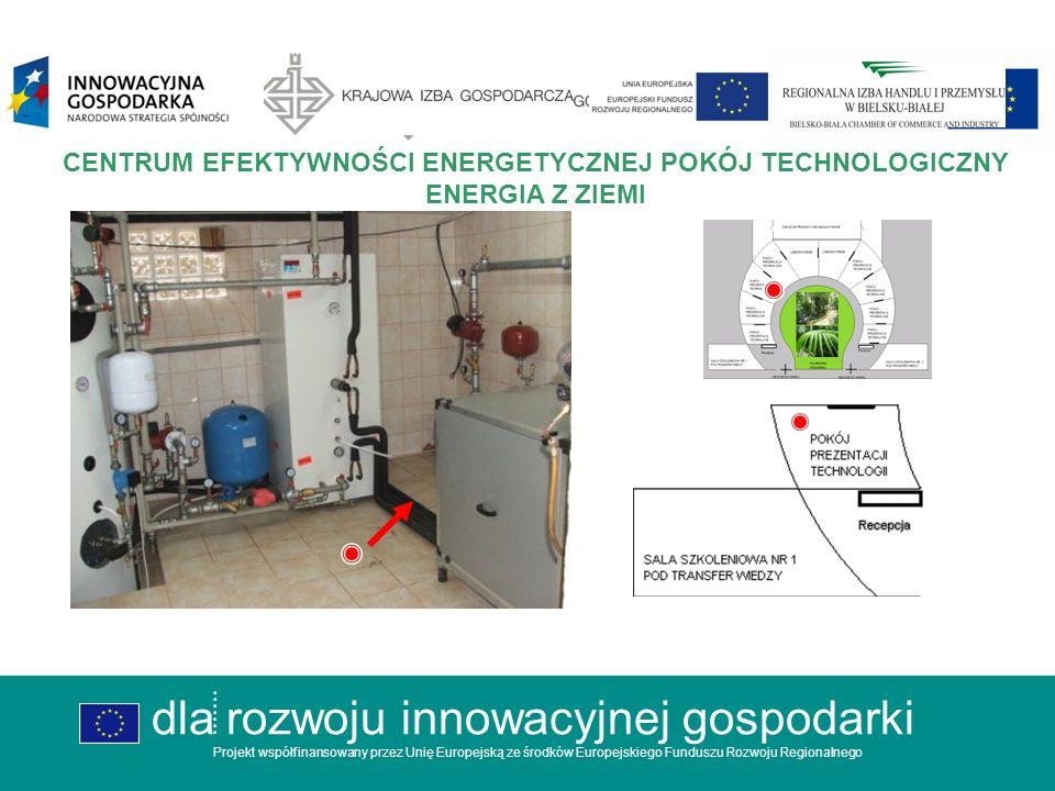 dla rozwoju innowacyjnej gospodarki Projekt współfinansowany przez Unię Europejską ze środków Europejskiego Funduszu Rozwoju Regionalnego CENTRUM EFEKTYWNOŚCI ENERGETYCZNEJ ORANŻERIA PALMIARNIA dla rozwoju innowacyjnej gospodarki Projekt współfinansowany przez Unię Europejską ze środków Europejskiego Funduszu Rozwoju Regionalnego