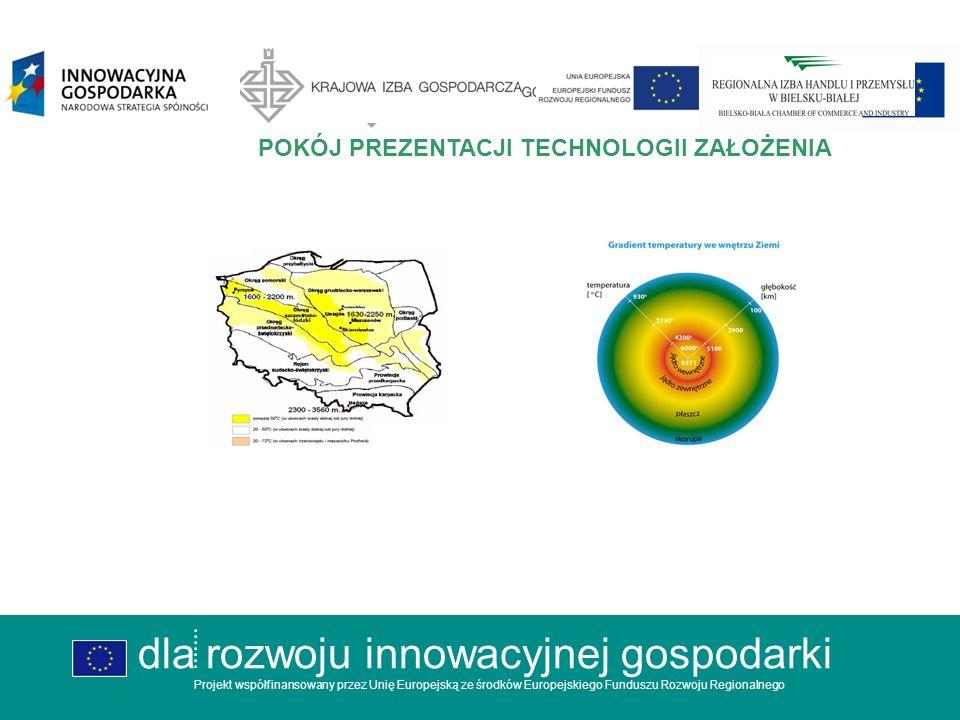 dla rozwoju innowacyjnej gospodarki Projekt współfinansowany przez Unię Europejską ze środków Europejskiego Funduszu Rozwoju Regionalnego CENTRUM EFEKTYWNOŚCI ENERGETYCZNEJ POKÓJ TECHNOLOGICZNY ENERGIA Z ZIEMI dla rozwoju innowacyjnej gospodarki Projekt współfinansowany przez Unię Europejską ze środków Europejskiego Funduszu Rozwoju Regionalnego