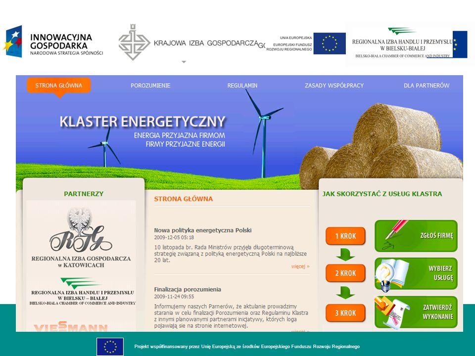 dla rozwoju innowacyjnej gospodarki Projekt współfinansowany przez Unię Europejską ze środków Europejskiego Funduszu Rozwoju Regionalnego POKÓJ PREZENTACJI TECHNOLOGII ZAŁOŻENIA dla rozwoju innowacyjnej gospodarki Projekt współfinansowany przez Unię Europejską ze środków Europejskiego Funduszu Rozwoju Regionalnego