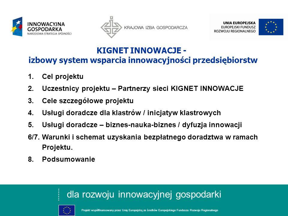 dla rozwoju innowacyjnej gospodarki Projekt współfinansowany przez Unię Europejską ze środków Europejskiego Funduszu Rozwoju Regionalnego Projekt realizowany w ramach Programu Operacyjnego Innowacyjna Gospodarka, 5.