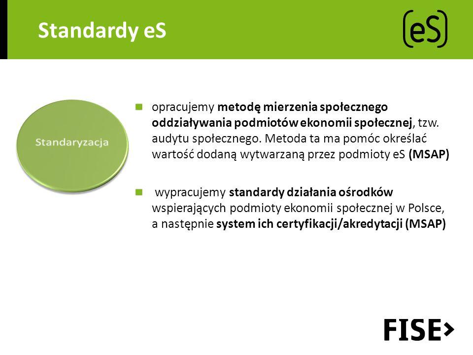 Standardy eS opracujemy metodę mierzenia społecznego oddziaływania podmiotów ekonomii społecznej, tzw.