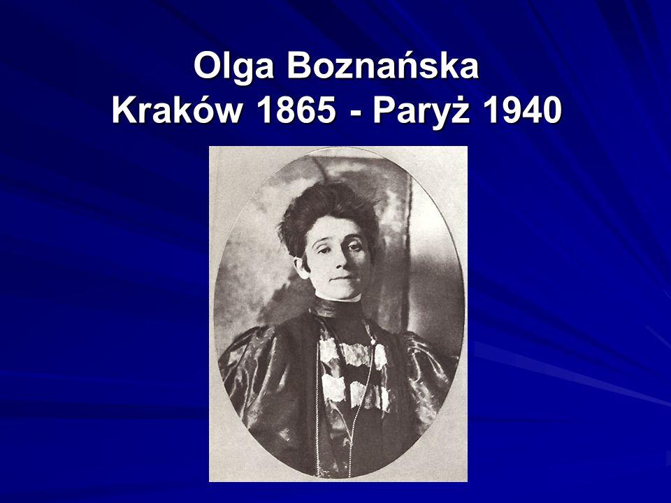 Mimo doskonałego wykształcenia i ogromnego talentu, a co za tym stoi zasłużonych sukcesów na międzynarodowych wystawach malarskich życie Olgi Boznańskiej okazało się dla niej samej pasmem osobistych nieszczęść i porażek.