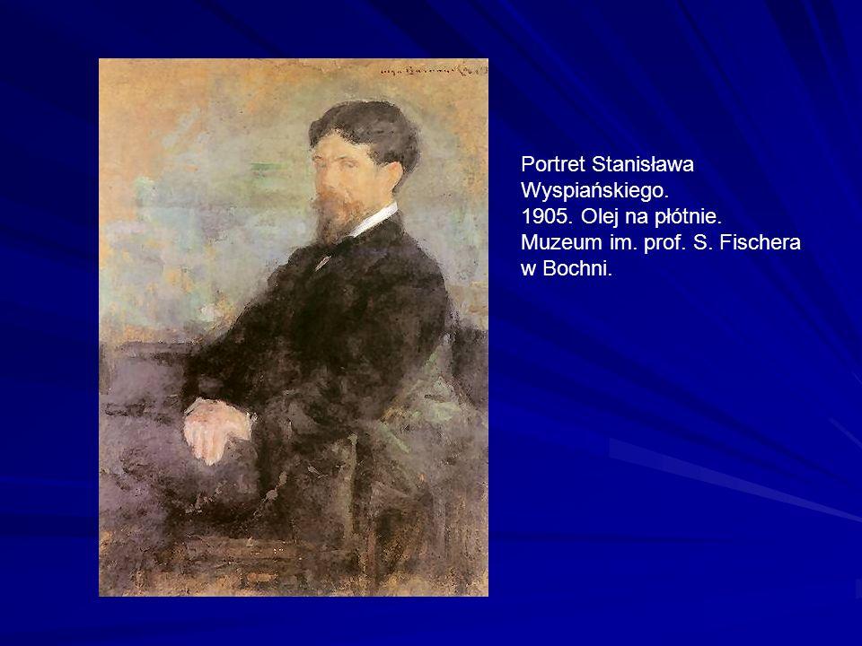 Portret Stanisława Wyspiańskiego. 1905. Olej na płótnie. Muzeum im. prof. S. Fischera w Bochni.