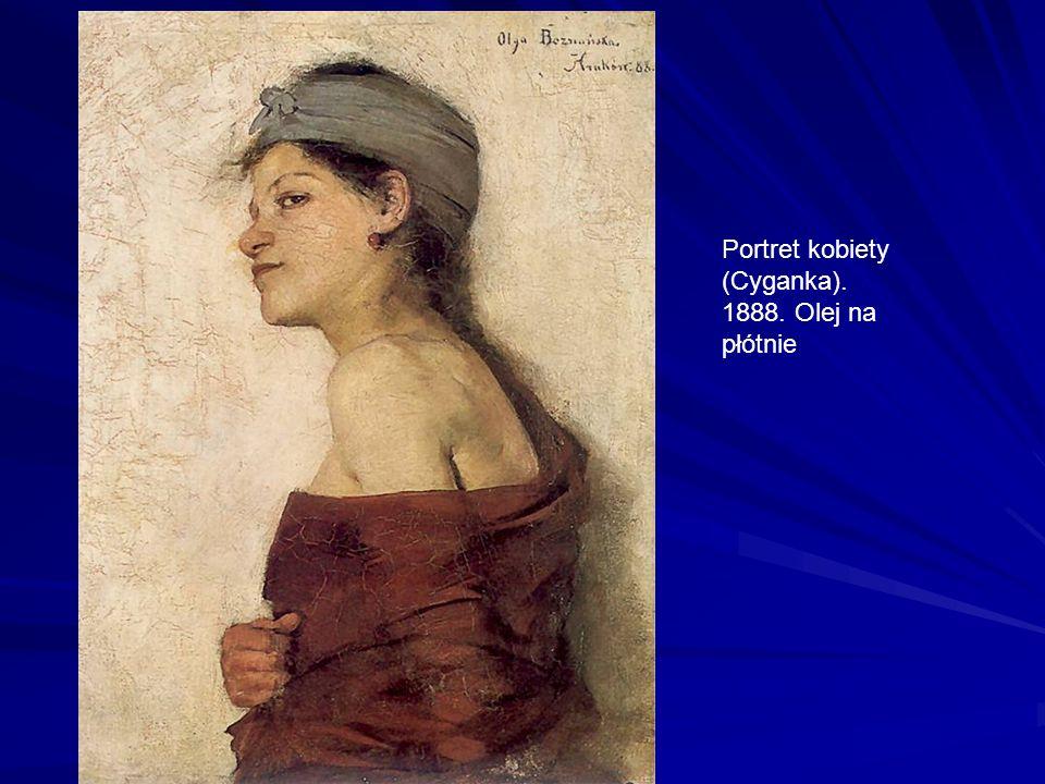 Portret kobiety (Cyganka). 1888. Olej na płótnie