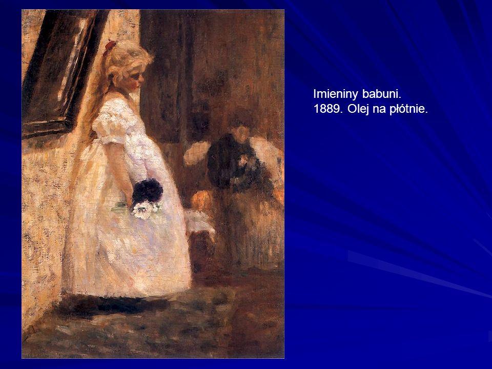 Imieniny babuni. 1889. Olej na płótnie.