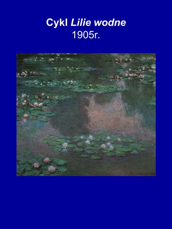 Cykl Lilie wodne 1905r.