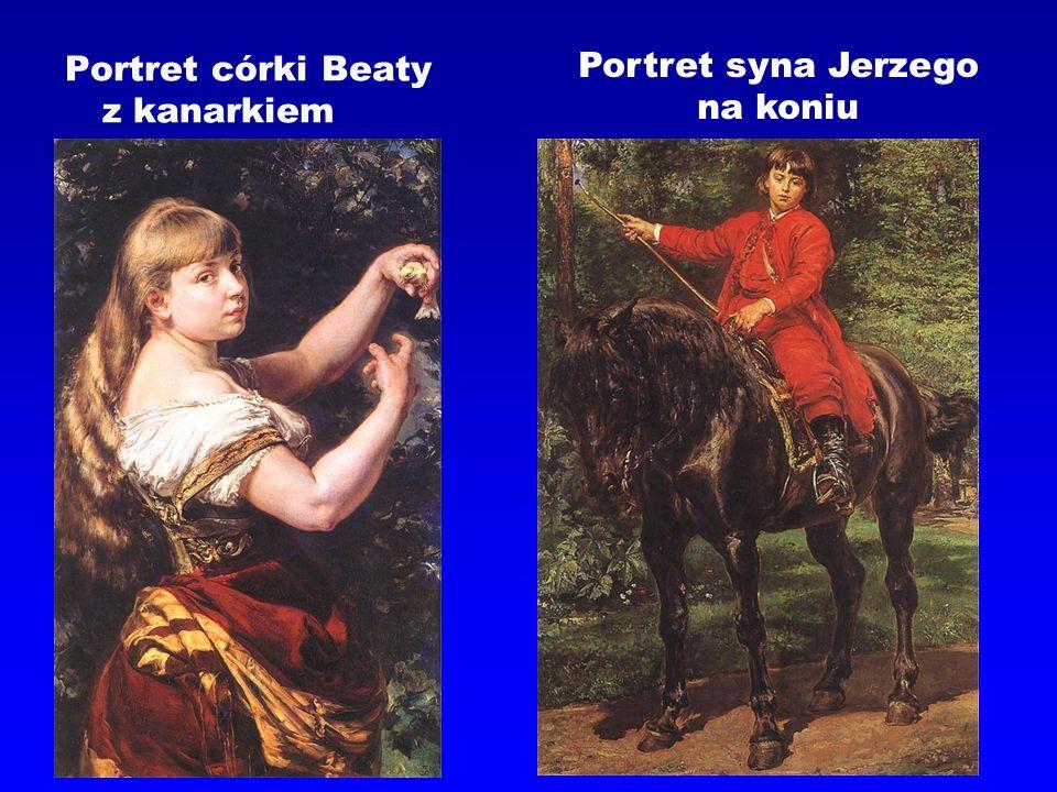 Portret córki Beaty z kanarkiem Portret syna Jerzego na koniu
