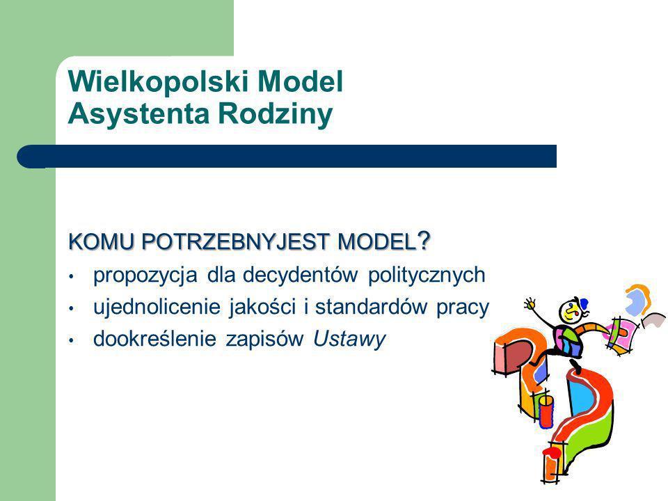 Wielkopolski Model Asystenta Rodziny KOMU POTRZEBNYJEST MODEL .