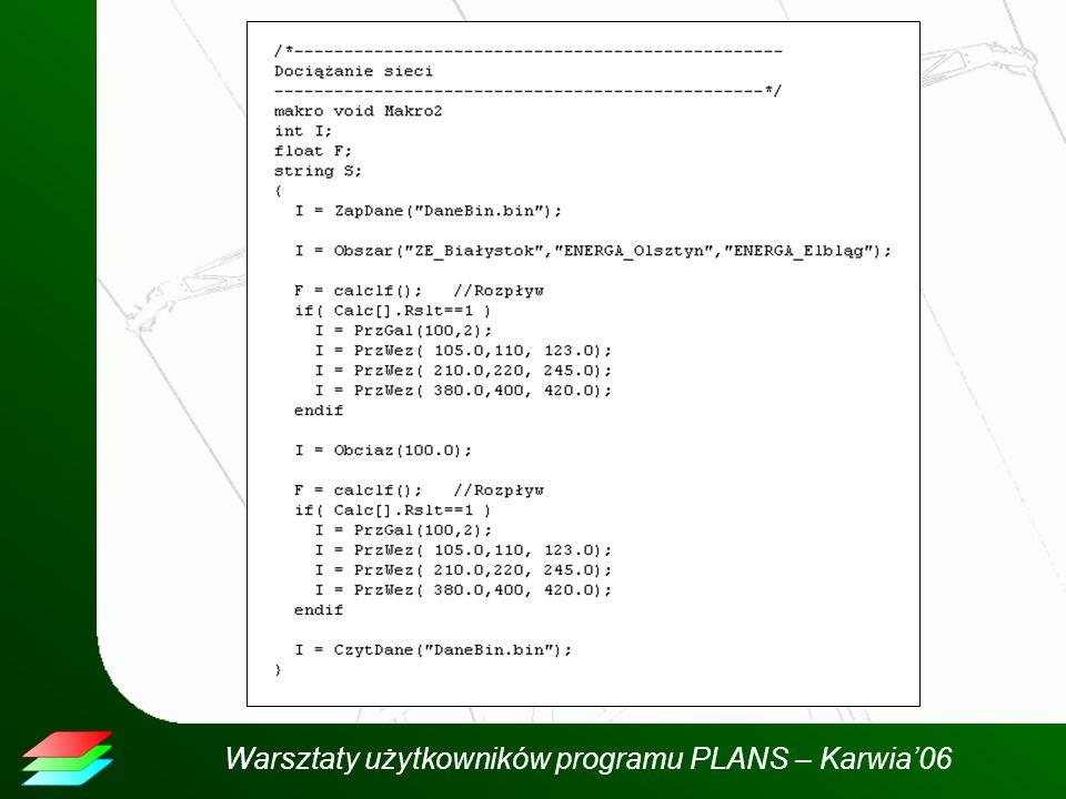 Warsztaty użytkowników programu PLANS – Karwia06