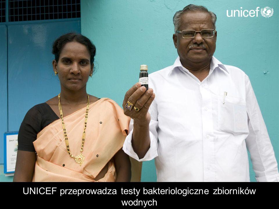 UNICEF przeprowadza testy bakteriologiczne zbiorników wodnych