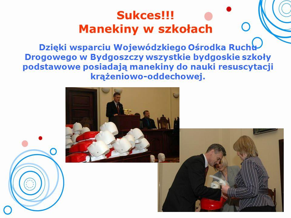 Współpraca i wsparcie – sponsorzy WORD w Bydgoszczy – przekazanie środków finansowych na materiały dydaktyczne – 20.000,- zł, zakupienie 27 manekinów