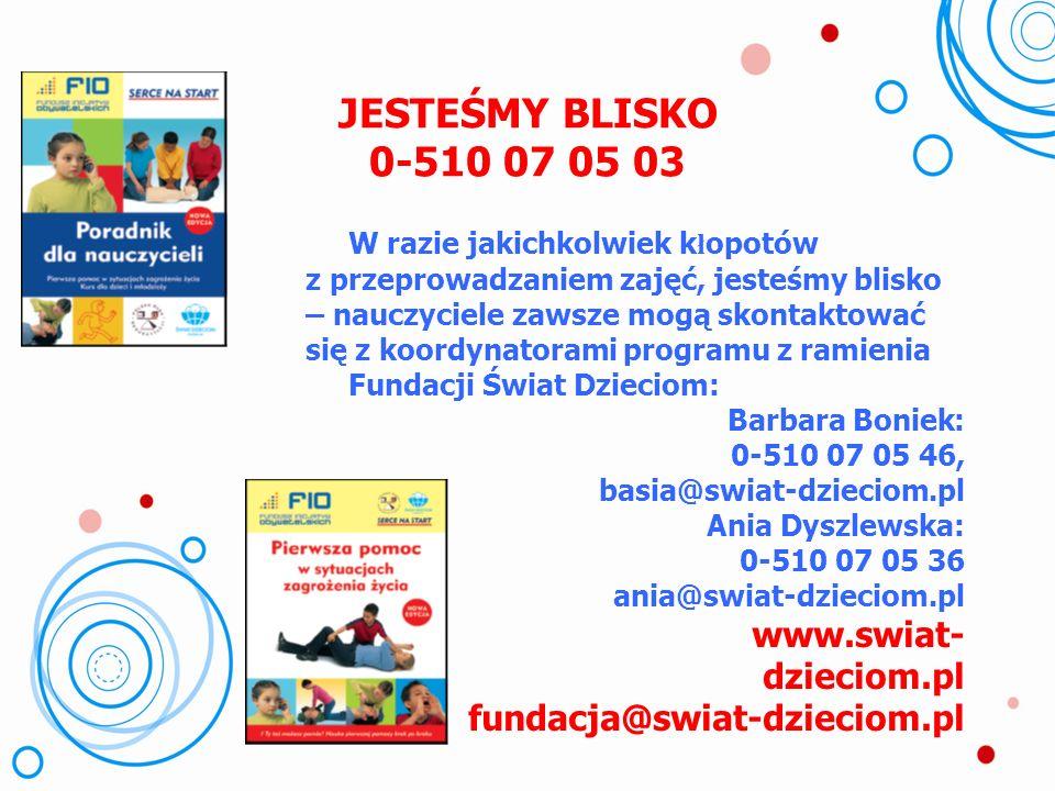Sukces!!! Manekiny w szkołach Dzięki wsparciu Wojewódzkiego Ośrodka Ruchu Drogowego w Bydgoszczy wszystkie bydgoskie szkoły podstawowe posiadają manek