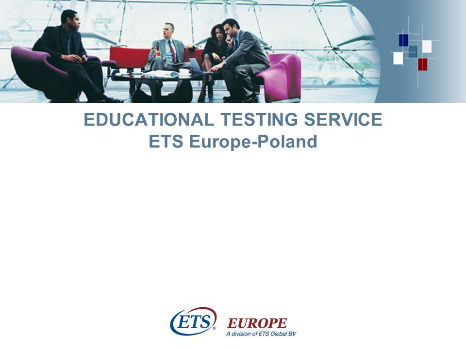> Uzupełnienie oferty ETS – egzamin WiDaF WiDaF – stworzony przez niemiecko-francuską izbę handlową w 1996 roku WiDaF = Deutsch als Fremdsprache in der Wirtschaft Egzamin przeznaczony do testowania znajomości języka niemieckiego w biznesie, w środowisku pracy Wykorzystywany przez firmy jako narzędzie do pomiaru efektywności szkoleń, certyfikacji i selekcji