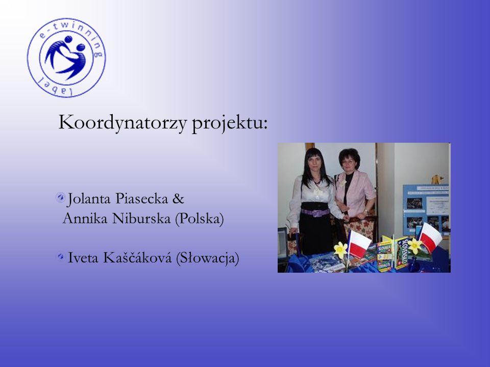Koordynatorzy projektu: Jolanta Piasecka & Annika Niburska (Polska) Iveta Kaščáková (Słowacja)
