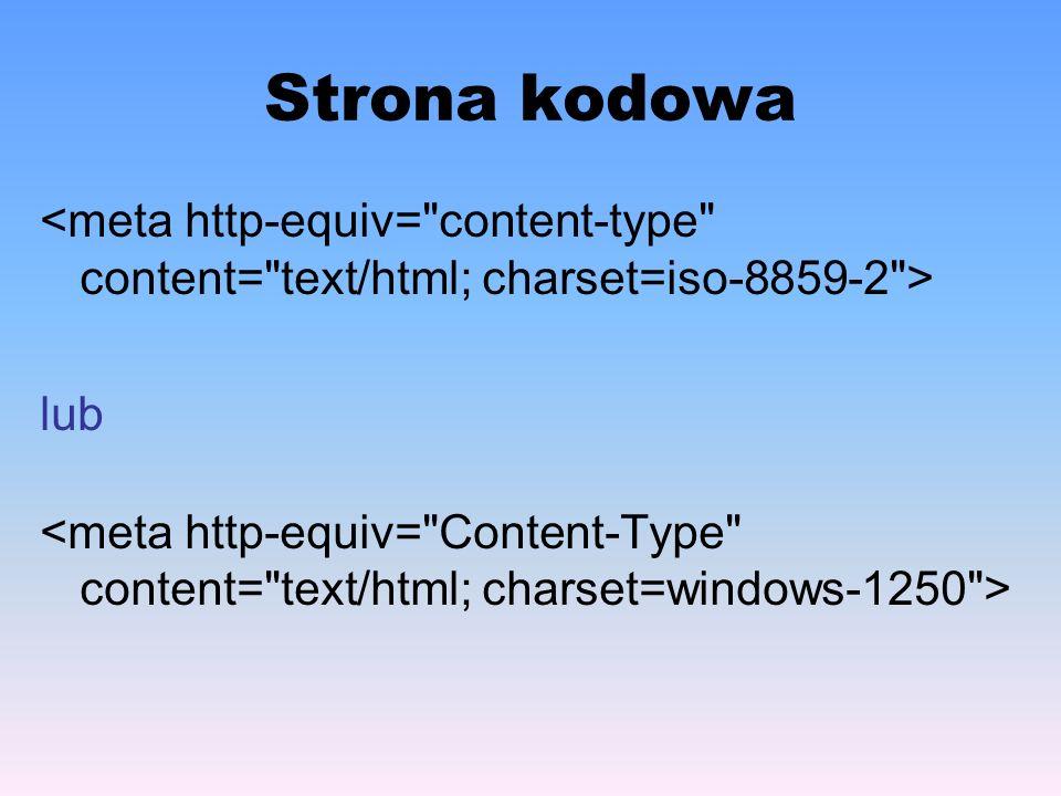 Wygląd i styl czcionki – cz.I AtrybutOpis font-familyOkreśla krój pisma.