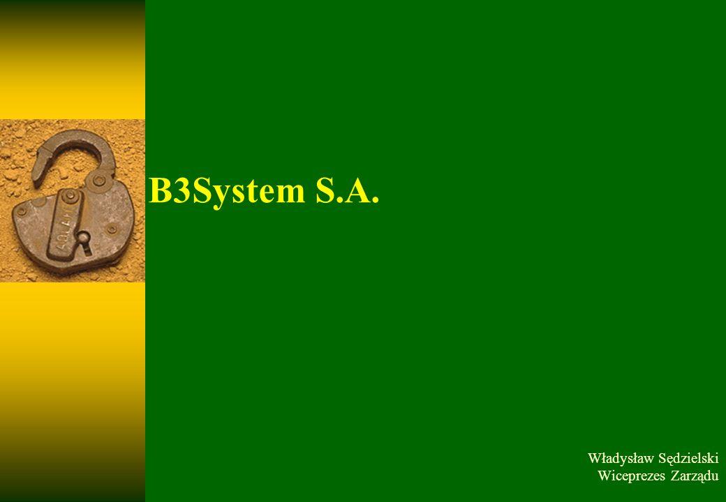 Twoje bezpieczeństwo to nasz wspólny cel marzec 14B3System, 2009 2 Misja DOSTARCZENIE NAJSKUTECZNIEJSZYCH ROZWIĄZAŃ ZAPEWNIAJĄCYCH BEZPIECZEŃSTWO SYSTEMÓW INFORMATYCZNYCH